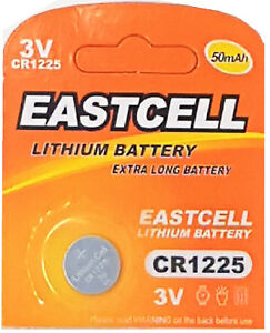 1-x-CR1225-3V-Lithium-Knopfzelle-50-mAh-1-Blistercard-a-1-Batterie-EASTCELL