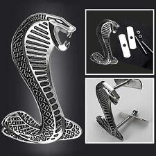 Sliver Snake Cobra 3D Sticker Emblem Badge Decal Logo for ford Shelby Mustang