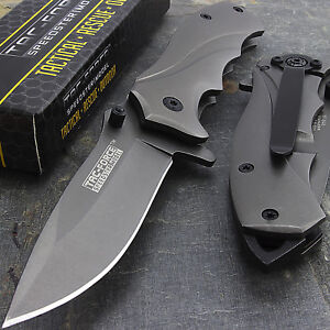 """6.5"""" TAC FORCE TITANIUM COATED SPRING OPEN ASSISTED TACTICAL FOLDING KNIFE Blade"""