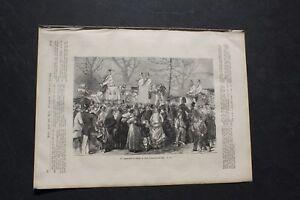1871 ème 23/londres St James Park Carrosse Angleterre-afficher Le Titre D'origine Faire Sentir à La Facilité Et éNergique