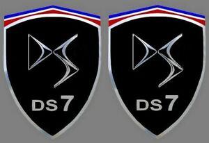 2 Autocollants Stickers Noir Et Chrome Ds7 (idéal Ailes Avant) Ds (ex Citroen) Calcul Minutieux Et BudgéTisation Stricte