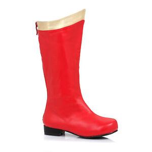 Ellie 101-SUPER Red Gold Superhero Wonder Woman Boot Children Halloween Costume