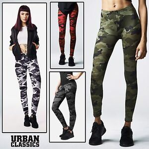 Urban-Classics-donna-mimetici-leggins-pantaloni-collant-Treggings