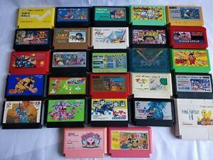 Whole-sale-Lot-of-27-Nintendo-Famicom-FC-NES-Game-Cartridge-set-Not-tested-c0513