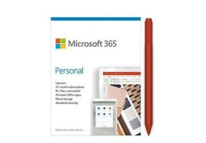 Microsoft 365 Personal 1 Year Subscription For 1 User + Surface Pen Poppy Red