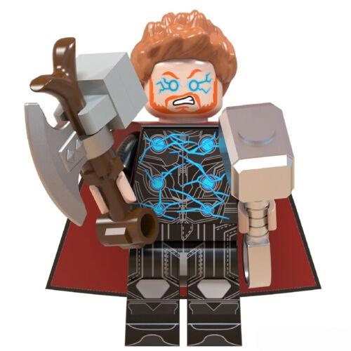 Marvel Avengers Thor Axe Hammer Custom Mini Figure Minifig UK Seller Film Movie