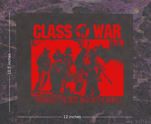 Class War BACK Patch Human Liberation Rights Anti Government Corporation Anarchy
