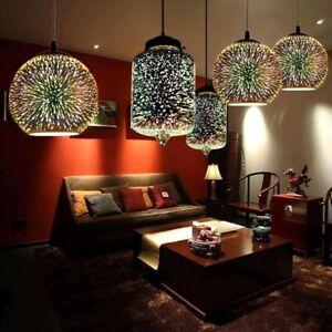 3D Glas LED Deckenleuchten Lampe Feuerwerk Pendelleuchte Küche ...