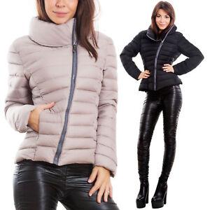 low cost 33667 85df1 Dettagli su Piumino donna imbottito giubbotto giaccone cerniera zip caldo  trapuntato A-2