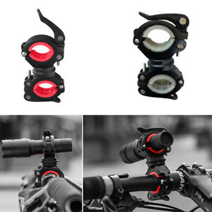 Bike LED Light Holder Clamp Clip Cycling Flashlight Torch Mount 360° Rotation