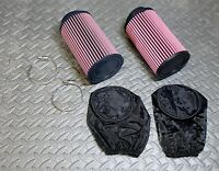 2 X Yamaha Banshee K&n Style Air Filters Mikuni Stock Size Carbs Outerwears