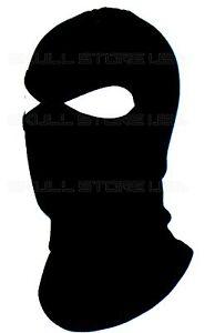 BLACK 2 HOLE BALACLAVA FULL SKI HOOD LONG NECK FACE MASK LARPA SWAT ... b8e3abe69f6c