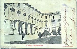 PORTICI-Scuola-Agraria-viagg-1912-retro-indiviso-Napoli