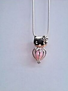 925 Chain+Pearl Included Teddy Bear Make a Wish Pearl Cage Pendant Necklace