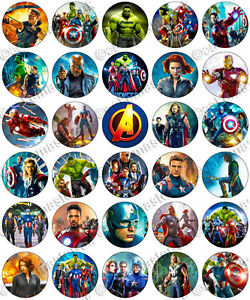 30 x avengers movie party edible rice wafer paper cupcake knight clipart mascot knights clip art black and yellow