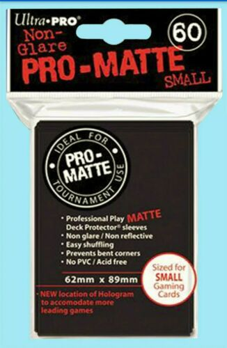 Ultra Pro Pro-Matte Small Size Deck Protector Sleeves Pack Black 60ct