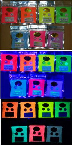 UV reactive pigment powder 25g YELLOW Glow in the dark