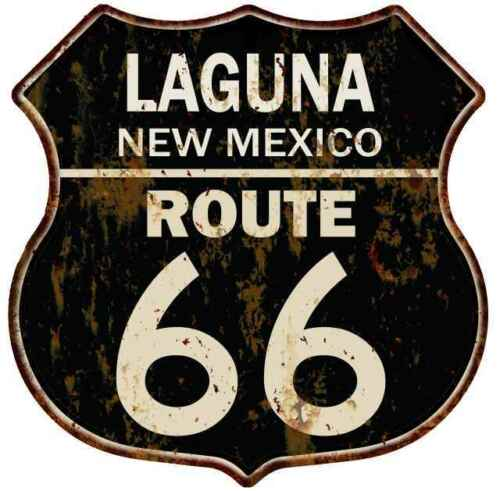 LAGUNA NEW MEXICO Route 66 Shield Metal Sign Man Cave Garage 211110014152