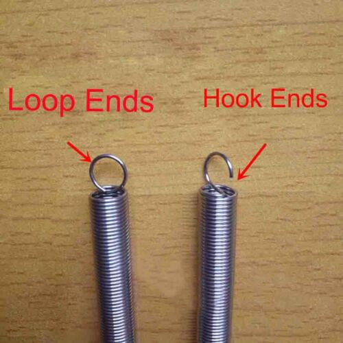 5pcs Hook//Loop Ends Stainless Steel Expanding Extension Springs Wire Diam 0.6mm