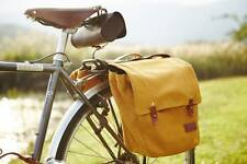 Vintage Cycling Pannier Bags Roll-Up Bicycle Rear Market Bag Canvas Touring