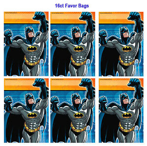 Image Is Loading Batman Folded Loot Treat Favor Gift Bags Birthday