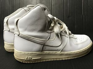 superior quality d8f3b c3cc8 Details about VGC! Nike AF1 Air Force 1 High 315121-115 -Mens Size 10-  White SNEAKERS