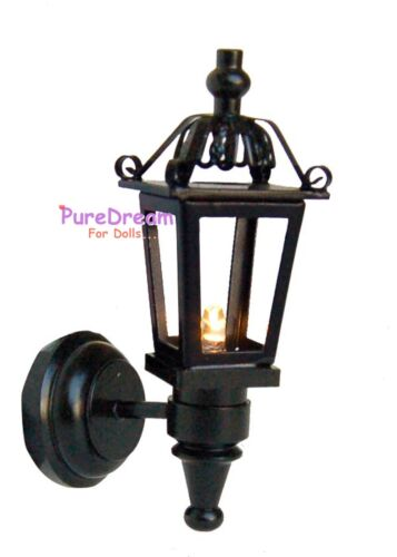 1:12Dollhouse Miniatures LED Light Wall Lamp Battery Operated With Switch LW017E