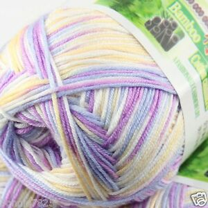 Sale-New-1-Ball-x50g-Super-Soft-Bamboo-Cotton-Baby-Hand-Knitting-Crochet-Yarn-38