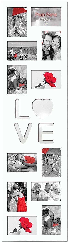 Love MDF de múltiples Foto, apertura Foto Marco Foto, múltiples Blanco, 12x (10x15cm 6x4) b0da48