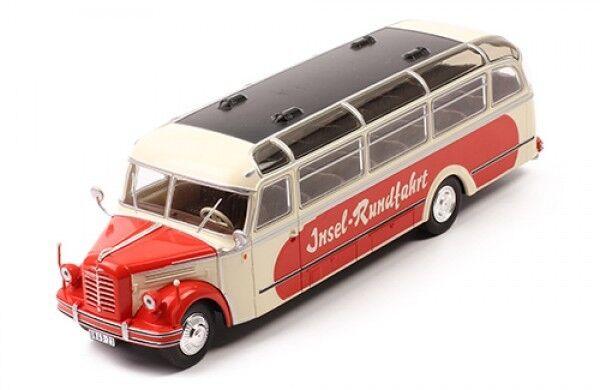 Bus Borgward BO 4000 Beige Rouge 1952  Ixo 1 43