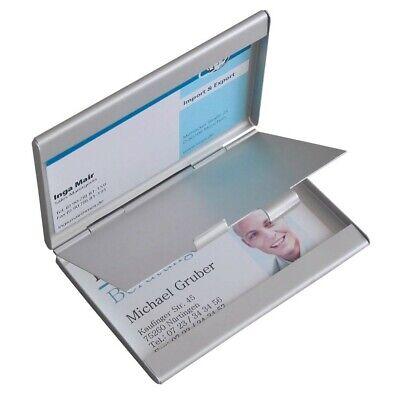 Metall Alu Silber Goldbarren Etui, Card Box 2 Stück Visitenkarten Etui