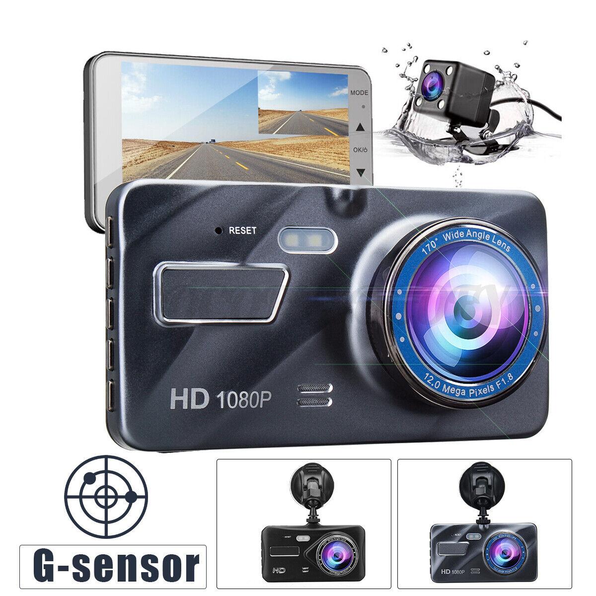 """4"""" Dual Lens 1080P Car DVR Camera Video Recorder Dash Cam G-Sensor Night Set US 1080p cam camera car dash dual dvr Featured lens recorder video"""