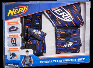 Nuevo Conjunto de Nerf Elite Stealth Striker Bandana Hip Funda Utilidad Chaleco