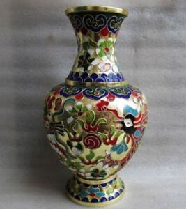 Fine-Chinese-cloisonne-dragon-amp-phoenix-vase-collection