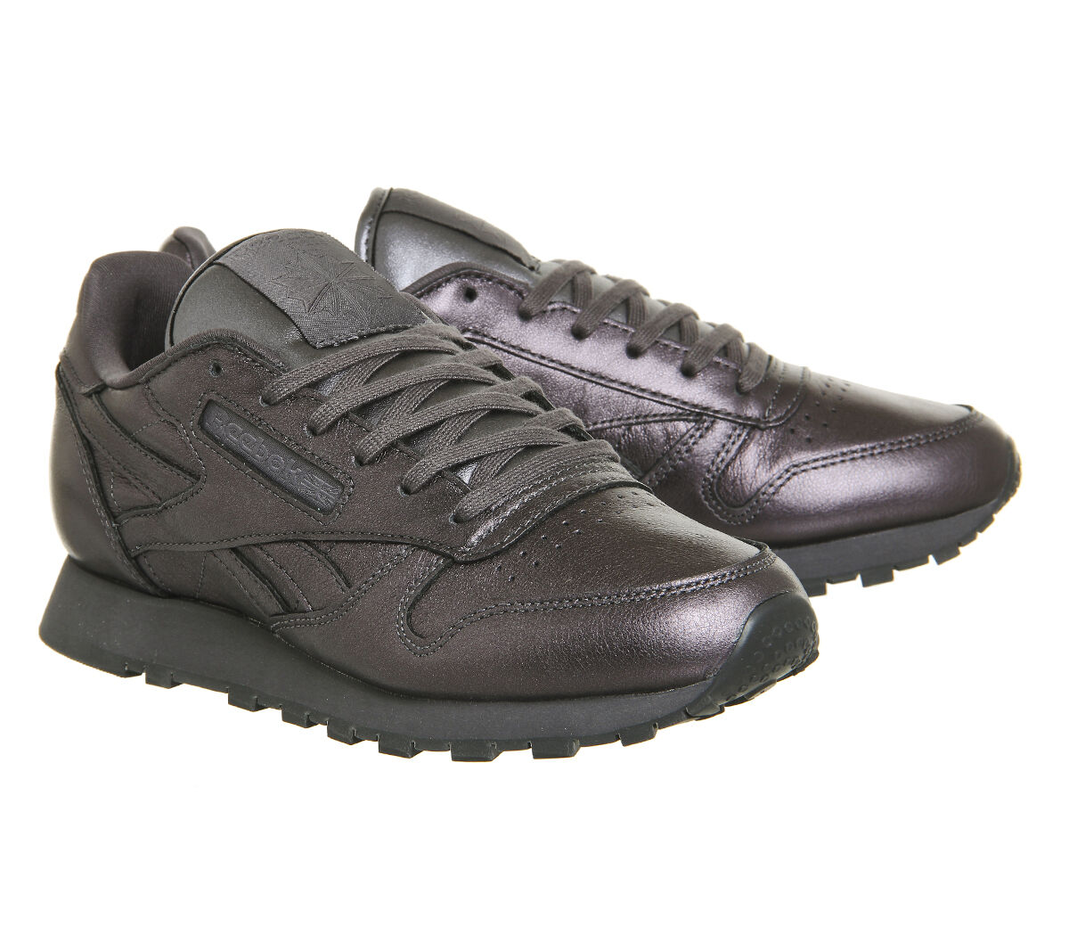 all must go  REEBOK CLASSIC LEATHER Noir Ashe  Gris  Rosette Spirit8