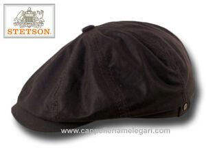Caricamento dell immagine in corso Berretto-Stetson -Hatteras-waxed-cotton-impermeabile-marrone 156f59fb73a3