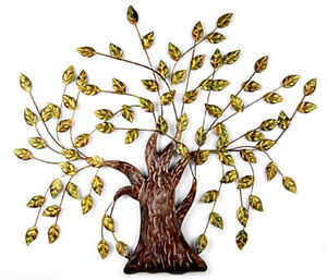 Baum aus metall wand dekoration super ebay - Metall baum deko ...