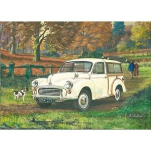 Morris Minor Traveller 1000 Woody Classic Car Blank Birthday Fathers Day Card