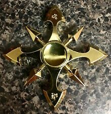 NARUTO 8-sided Golden Cross Shape Fidget Spinner Toy 🇺🇸US SELLER FAST SHIP✈️