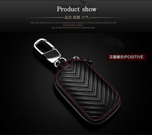 Good Quality Black Genuine Leather Car Key Holder Men /& Women Key Purse Key Case
