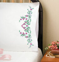 Embroidery Kit Tobin Meadow Flowers Pillowcase Pair T232008 Sale