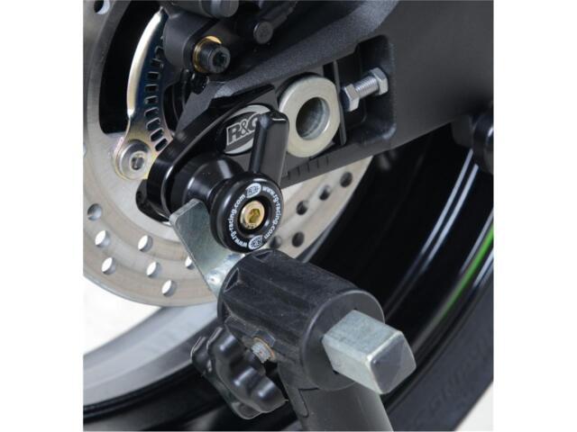 Pions de Bras Oscillant Déportés R&G Racing Avec Platine Noir Kawasaki Zx-10R