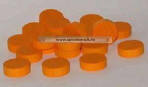 20-Scheiben-HOLZ-SPIELSTEINE-Bastelmaterial-PLATTCHEN-in-orange-6-x-18-mm-NEU