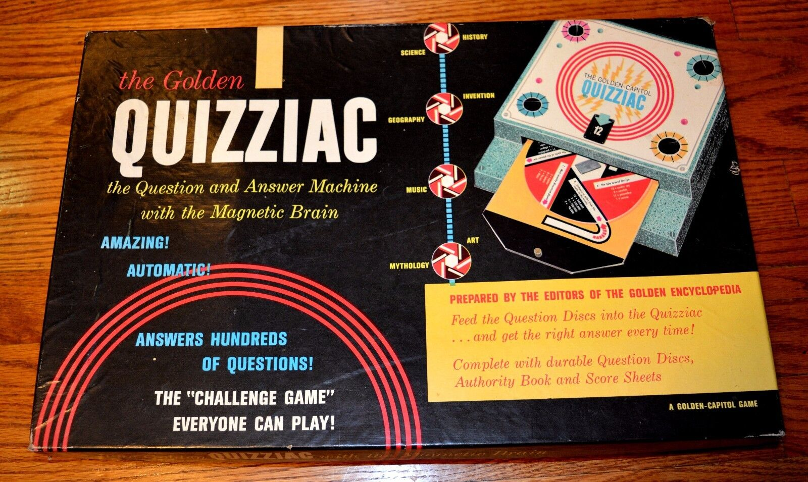 1960 The golden Quizziac W  The Magnetic Brain Game Complete goldEN PRESS