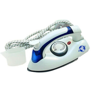 NON-STICK-COMPACT-700W-TRAVEL-IRON-EASY-FOLDING-STEAM-DRY-SINGLE-DUAL-VOLTAGE