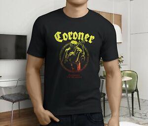 CORONER PUNISHMENT FOR DECADENCE Black New T-shirt Rock T-shirt Rock Band Shirt