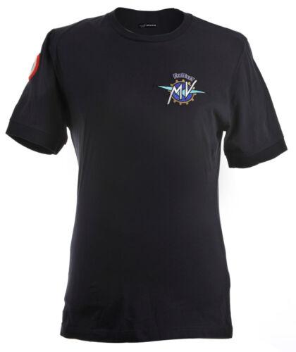 "Original MV Agusta t-shirt camiseta original /""Institutional/"" azul de manga corta Camisa"