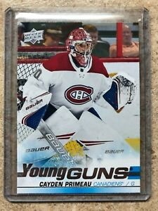19-20-UD-Upper-Deck-Game-Series-2-454-CAYDEN-PRIMEAU-Rookie-RC-YG-Young-Guns