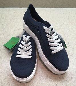 6dcc2bd67037 Crocs Men s Kinsale Static Lace Ups Navy White Iconic Sole Comfort ...