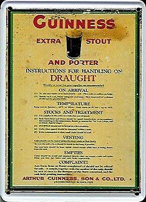 GemäßIgt Guinness Handling Metallpostkarte Mini Zeichen Reklame & Werbung Bier & Brauerei